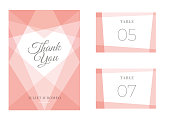 Modern Wedding template - Thank You Card / Place Card - Illustration