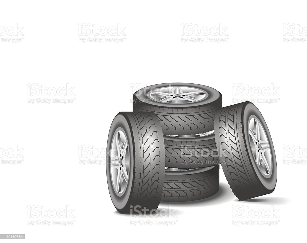 Modern wheels. royalty-free stock vector art