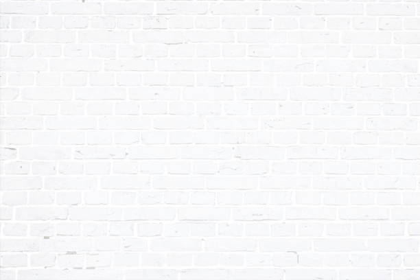 ilustrações de stock, clip art, desenhos animados e ícones de modern white color brick pattern wall texture grunge background vector illustration - white wall