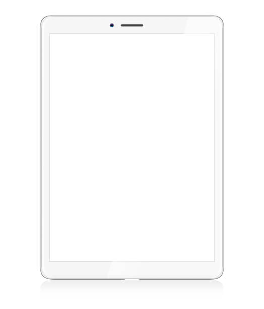 Modern White Digital Tablet Digital Tablet Isolated on White ipad stock illustrations
