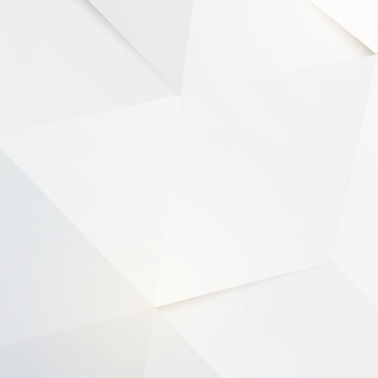 Modern White Polygon Background Vector Illustration Stock Illustration - Download Image Now