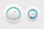 Modern white web control elements