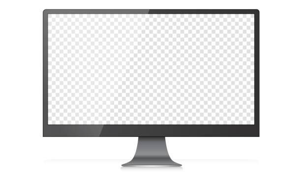 Modern Widescreen 4K Desktop PC Monitor vector art illustration
