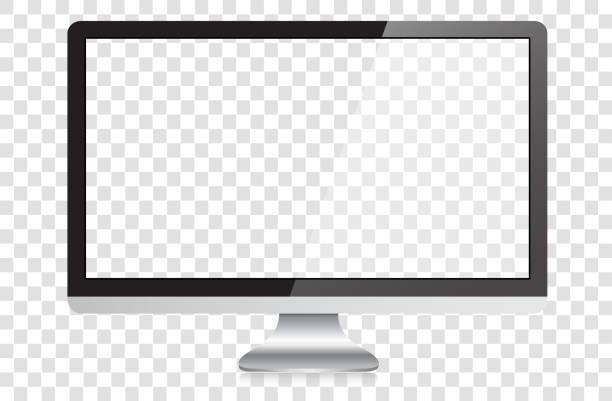 Modern Widescreen HD Desktop PC Monitor vector art illustration