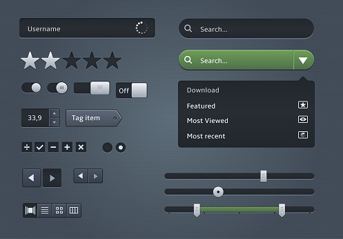 Modern widgets for Web interface