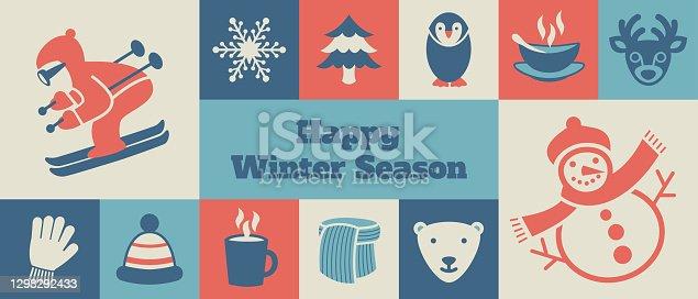 istock Modern Winter Season banner - v1 1298292433