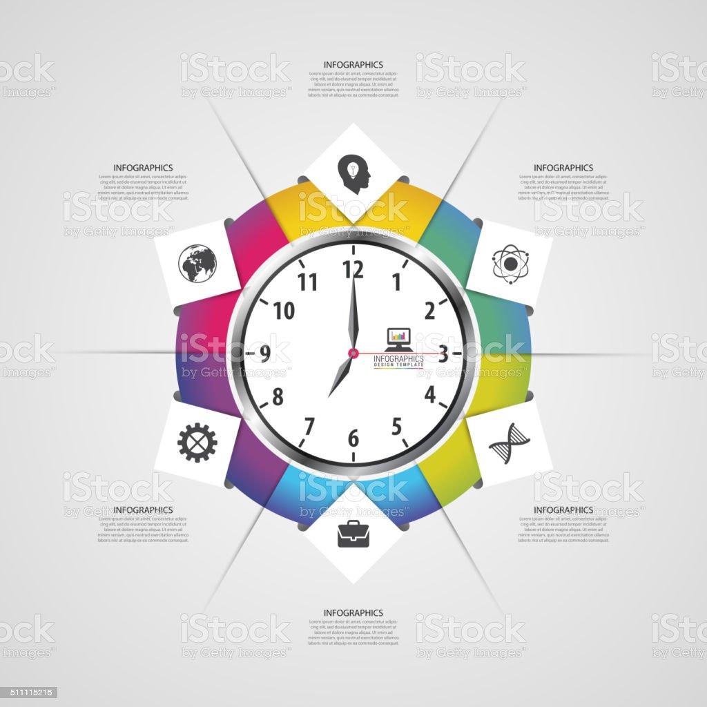 Moderne Arbeit Zeit Verwaltung Planen Sie Infografiken Vorlage Lizenzfreies  Moderne Arbeit Zeit Verwaltung Planen Sie Infografiken
