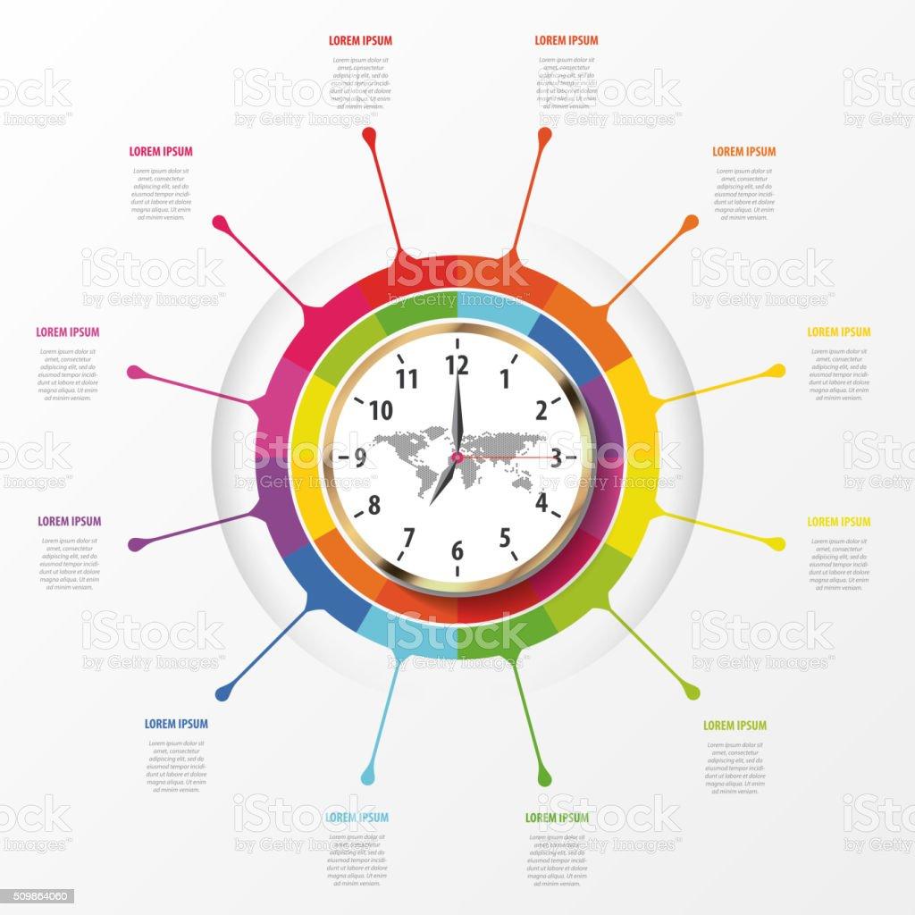 Moderne Arbeiten Zeit Verwaltung Planen Sie Infografiken Lizenzfreies  Moderne Arbeiten Zeit Verwaltung Planen Sie Infografiken Stock