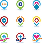 Modern World App Map Locator Social Internet Community Position Icon