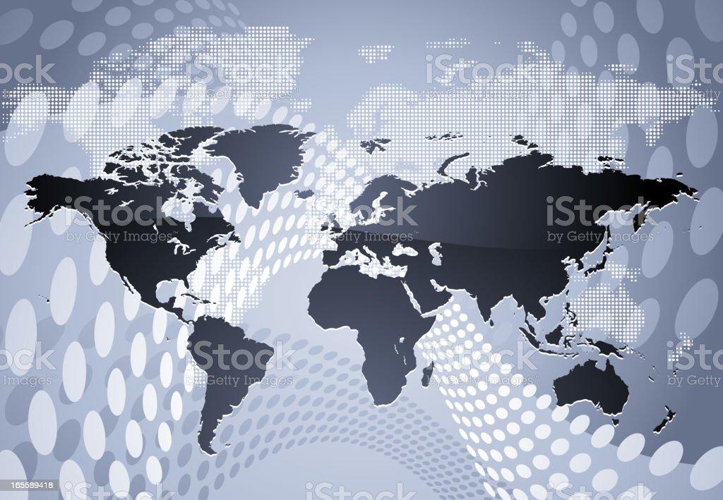 Modern world map vector art illustration