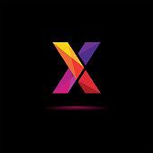 istock Modern X Initial logo, logo template vector illustration. 1220521577