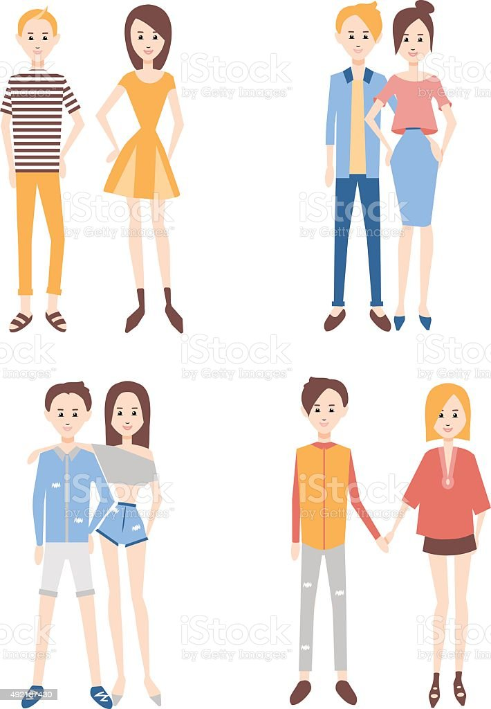 modern_couples vector art illustration