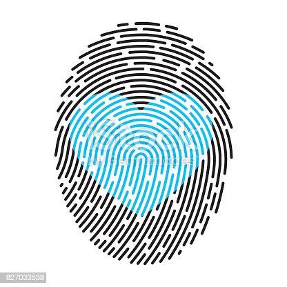 istock Moderne Fingerprint 827033538