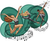 Modern/Jazz Dancers & Music