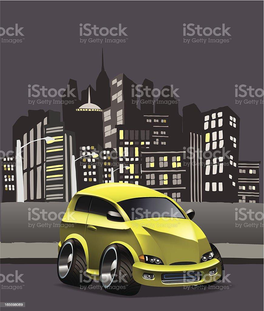 Modificado hatchback ilustração de modificado hatchback e mais banco de imagens de amarelo royalty-free