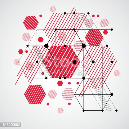 Modular Bauhaus Vector Background Created From Simple ...