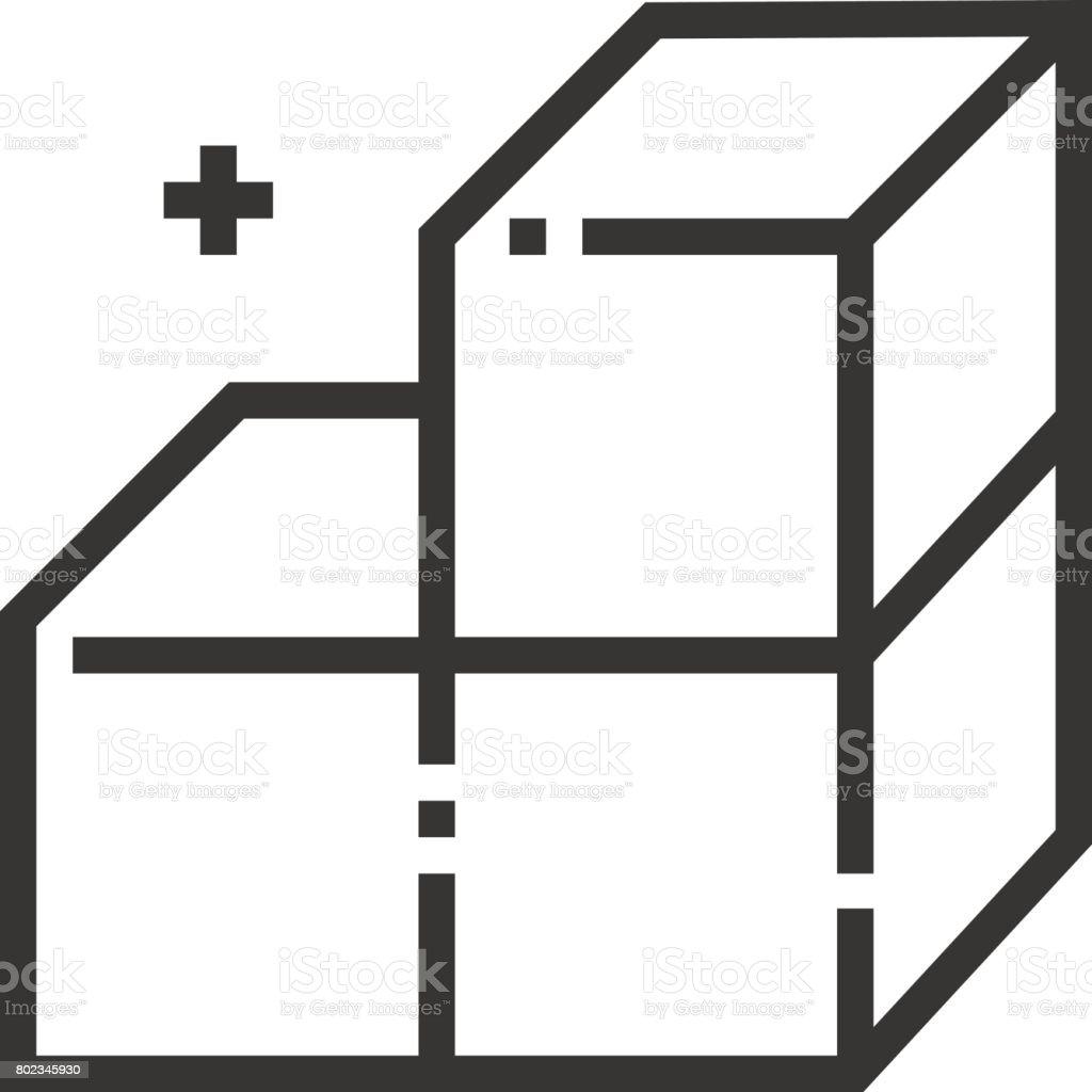 Icono del diseño modular - ilustración de arte vectorial