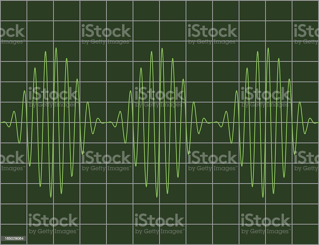 Modulated sinewaves royalty-free stock vector art
