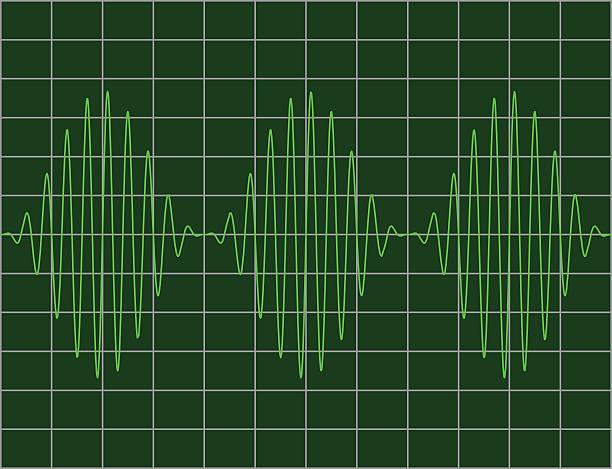 modulated sinewaves - sine wave stock illustrations