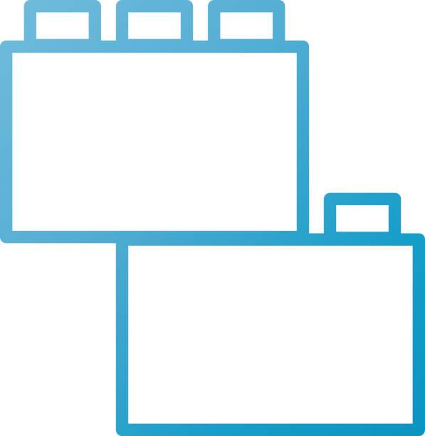 stockillustraties, clipart, cartoons en iconen met module baksteen lego stuk van raadsel speelgoed pictogram - lego