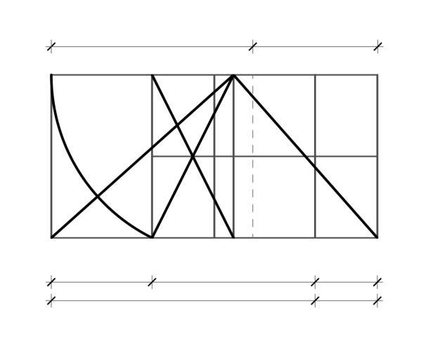 illustrations, cliparts, dessins animés et icônes de modulor le corbusier. modèle de couverture. harmonieux de mesurer à l'échelle humaine universellement à l'architecture et de la mécanique. illustration de scalable vector. - le corbusier