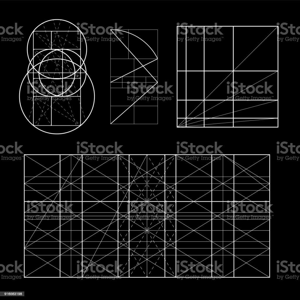 Modulor 樂柯布西耶。封面範本。armonious 衡量的是普遍適用于建築和力學的人類尺度。可伸縮的向量插圖。 - 免版稅人體工學圖庫向量圖形