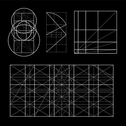 Modulor 樂柯布西耶封面範本armonious 衡量的是普遍適用于建築和力學的人類尺度可伸縮的向量插圖向量圖形及更多人體工學圖片