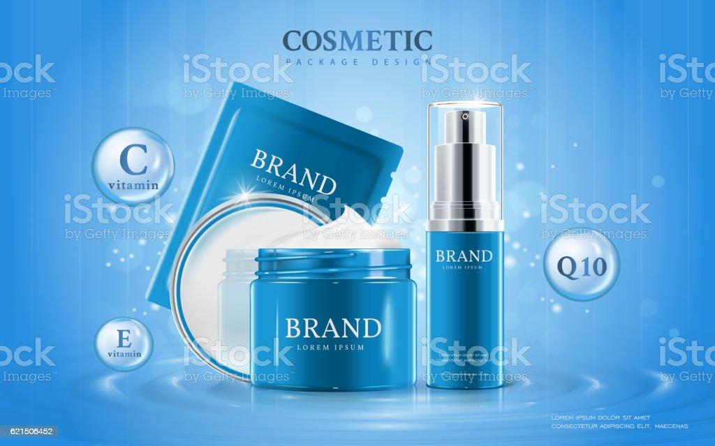 Moisturizing cosmetic ads template Lizenzfreies moisturizing cosmetic ads template stock vektor art und mehr bilder von beige