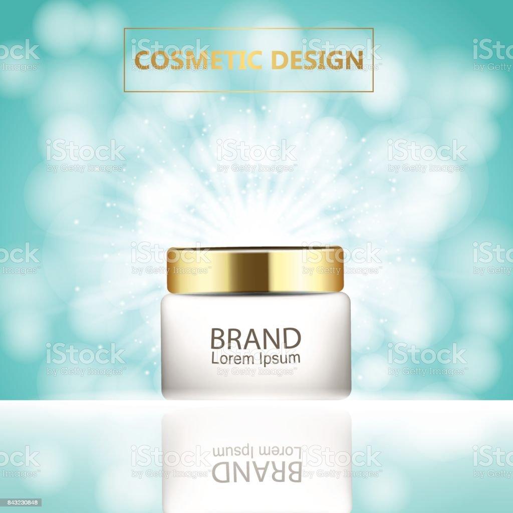 Ilustración de Hidratante Crema Facial Paquete Cosméticos Diseño ...