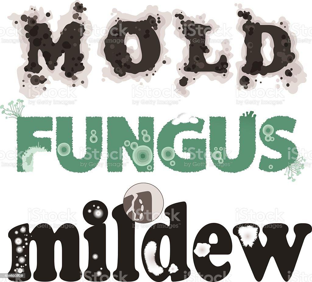Mold, fungus and mildew vector art illustration