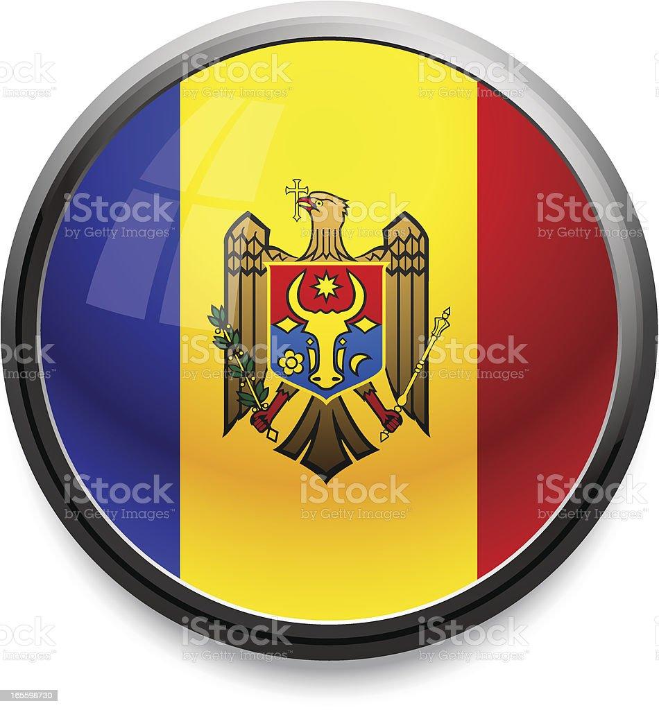 Moldava - flag icon royalty-free stock vector art