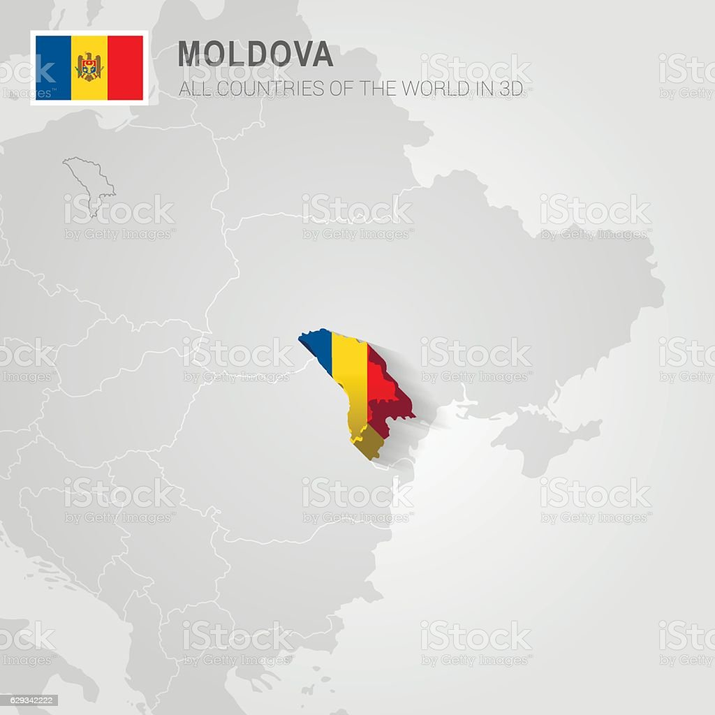 Moldova Europe Administrative Map Stock Vector Art More Images Of