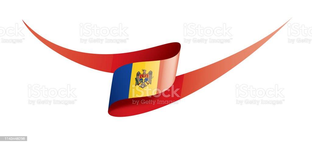 Drapeau De Moldavie Illustration Vectorielle Sur Un Fond ...