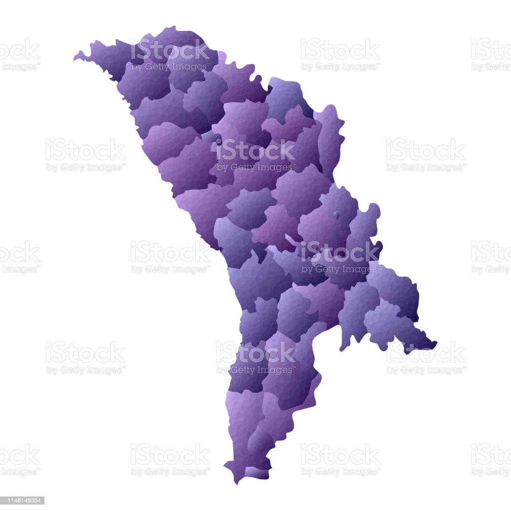 Moldawien Karte.Moldawien Karte Stock Vektor Art Und Mehr Bilder Von Abstrakt Istock