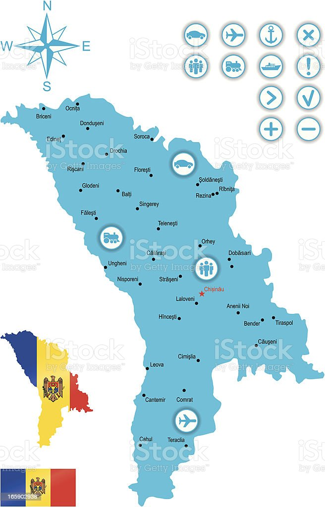 Moldova royalty-free stock vector art