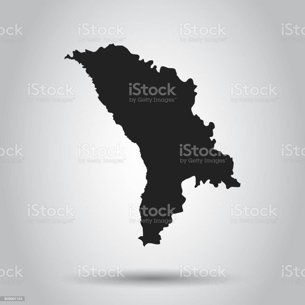 Moldova vector map black icon on white background stock vector art moldova vector map black icon on white background royalty free moldova vector map gumiabroncs Image collections