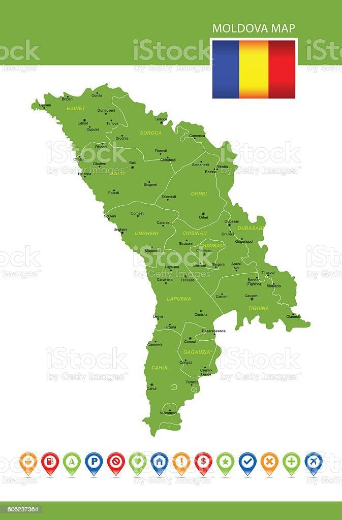 Moldawien Karte.Moldawien Vektorkarte Stock Vektor Art Und Mehr Bilder Von Blau Istock