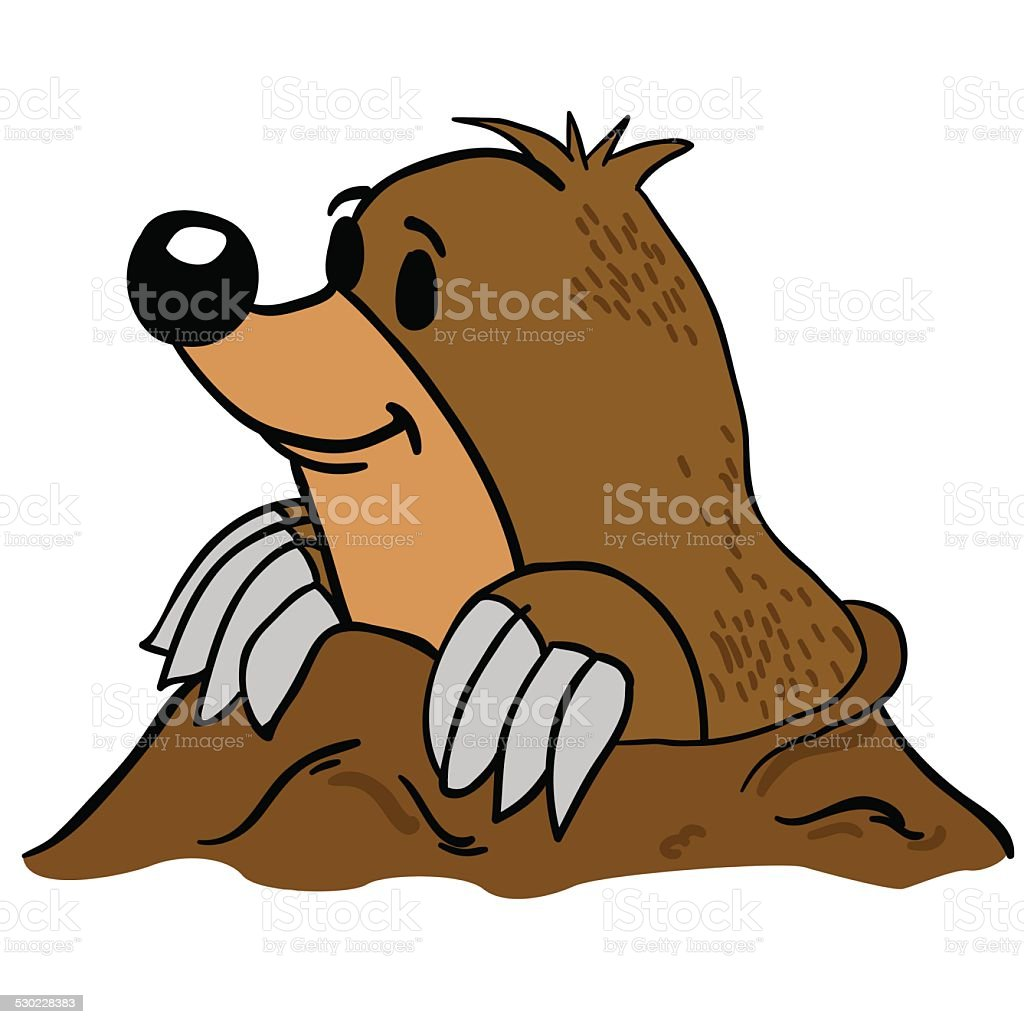 mole vector art illustration