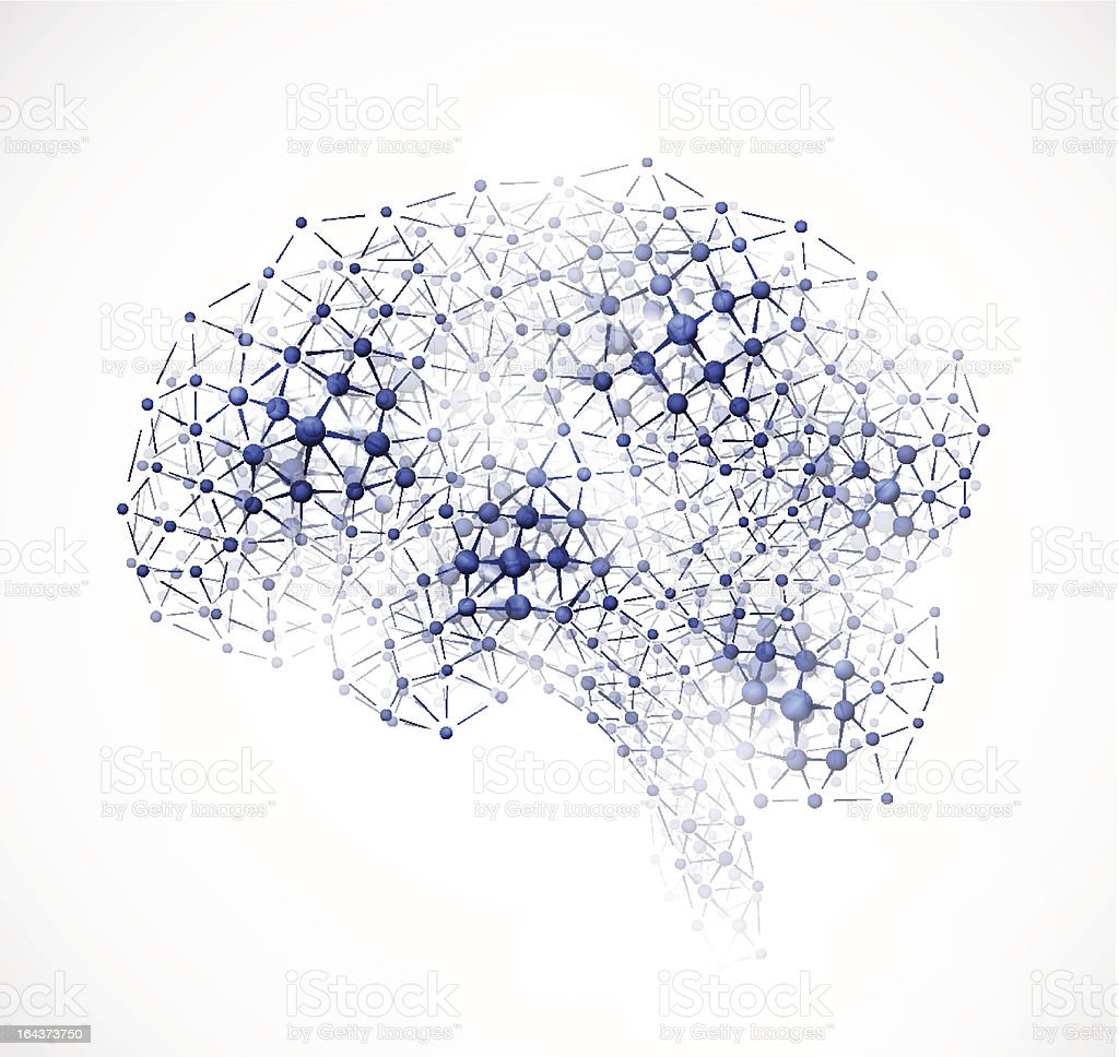 Molecular brain royalty-free stock vector art