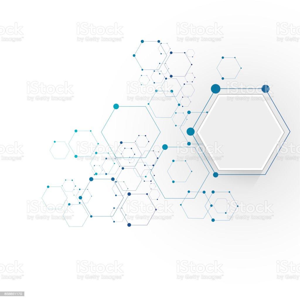 分子接続構造 ベクターアートイラスト