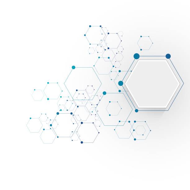分子接続構造 - 遺伝子研究点のイラスト素材/クリップアート素材/マンガ素材/アイコン素材