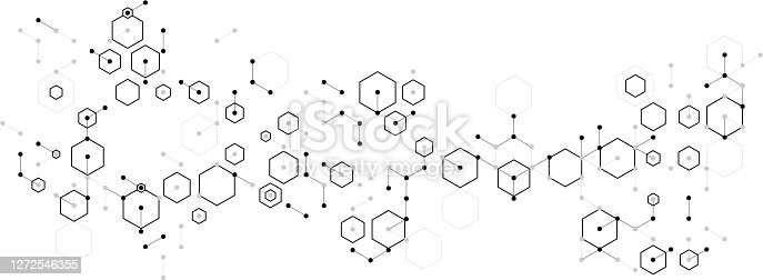 molecular hexagon complex pattern background