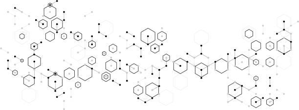 molecular formula abstract molecular hexagon complex pattern background chemical stock illustrations