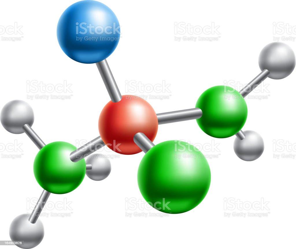 molecular model royalty-free stock vector art