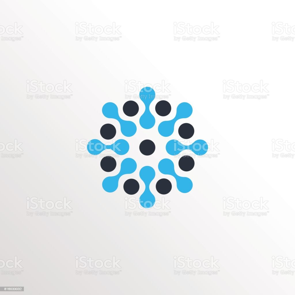 molecular neuron sun icon icon with clean background vector art illustration