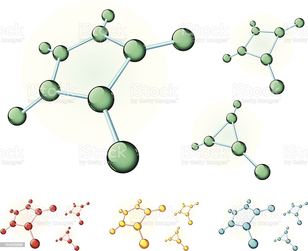 Molecular pentagon royalty-free stock vector art