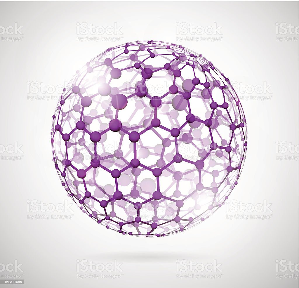 Molecular sphere royalty-free molecular sphere stock vector art & more images of abstract