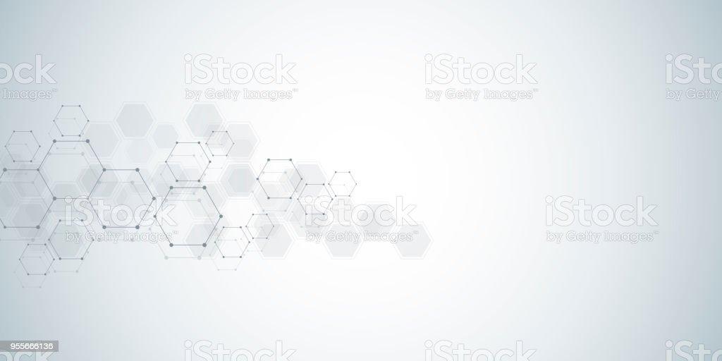 Ilustración De Fondo De La Estructura Molecular Resumen De