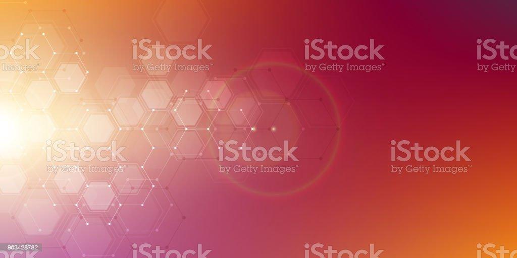 Molekylstruktur bakgrund. Abstrakt bakgrund med molekylen DNA. Geometrisk form med hexagoner - Royaltyfri Abstrakt vektorgrafik