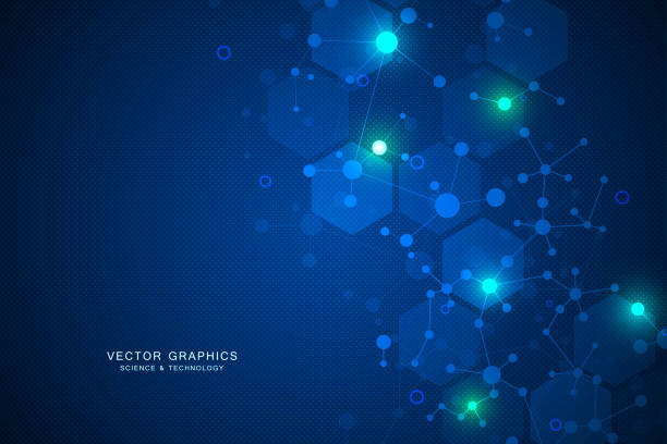Molecular structure background. Genetic and science research Molecular structure background. Genetic and science research neuroscience abstract stock illustrations